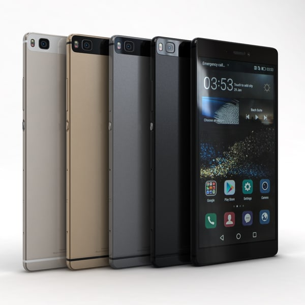 Huawei P8 All Color 3D Models