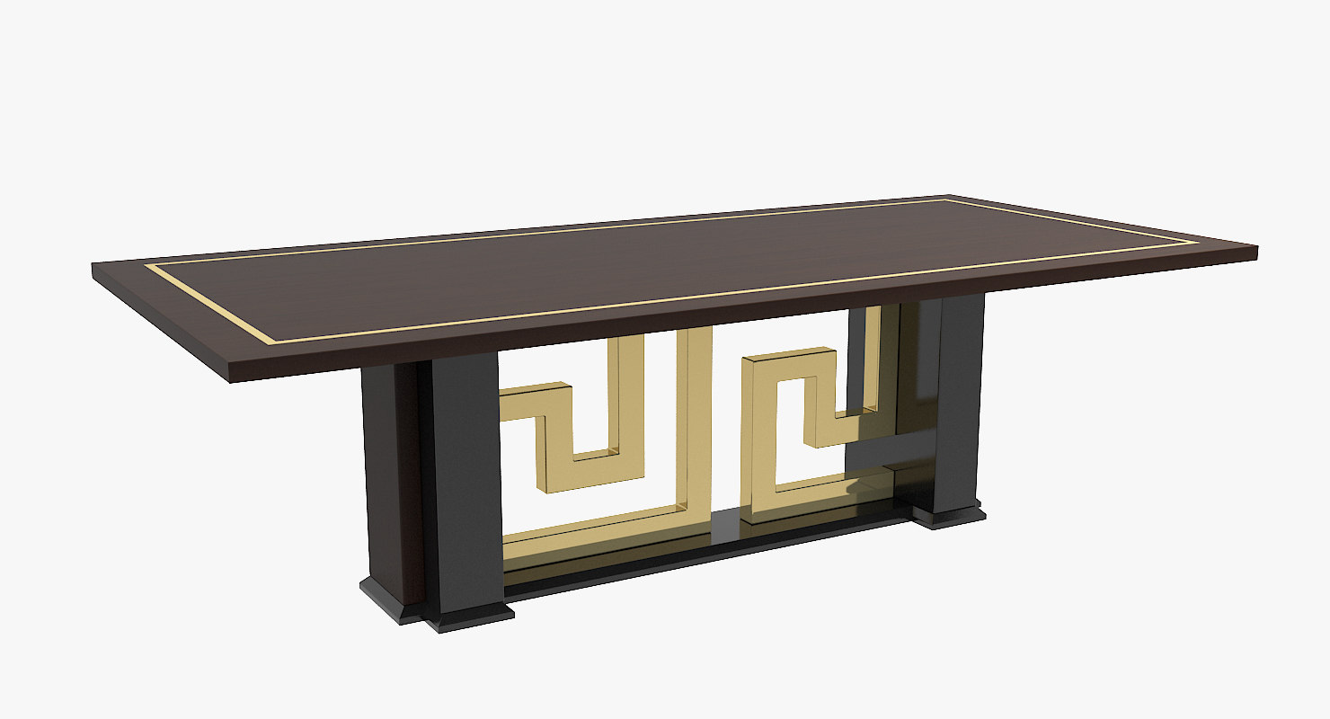 Versace cartesio dining table 3d model for Table versace