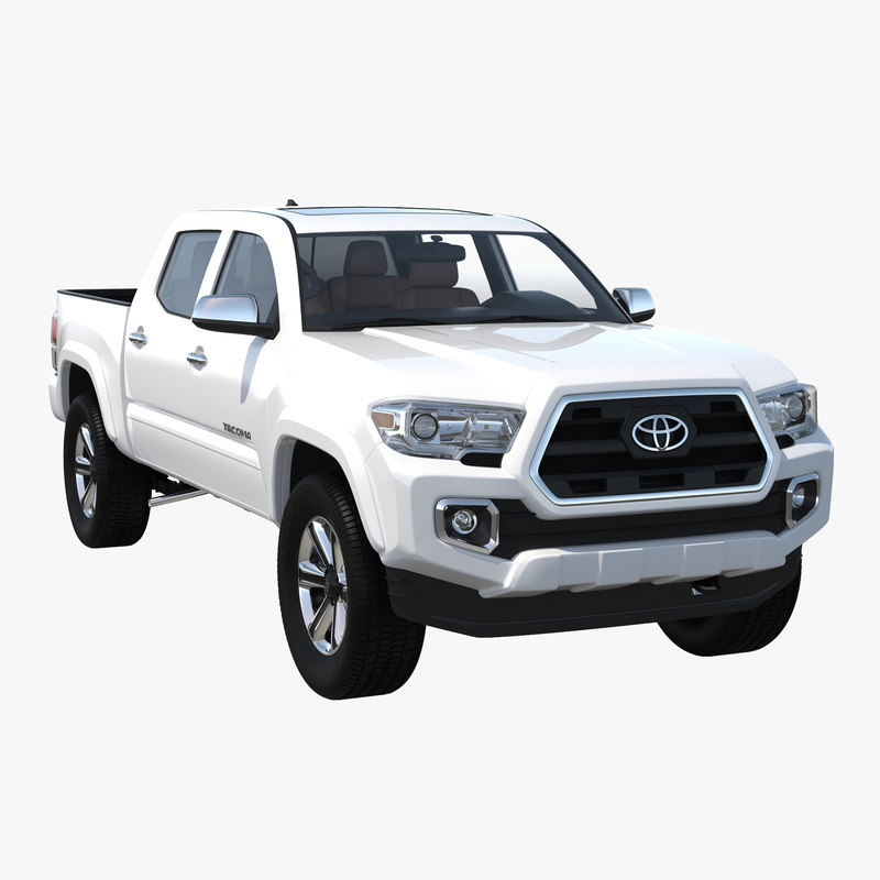 toyota tacoma 2016 simple 3d model. Black Bedroom Furniture Sets. Home Design Ideas