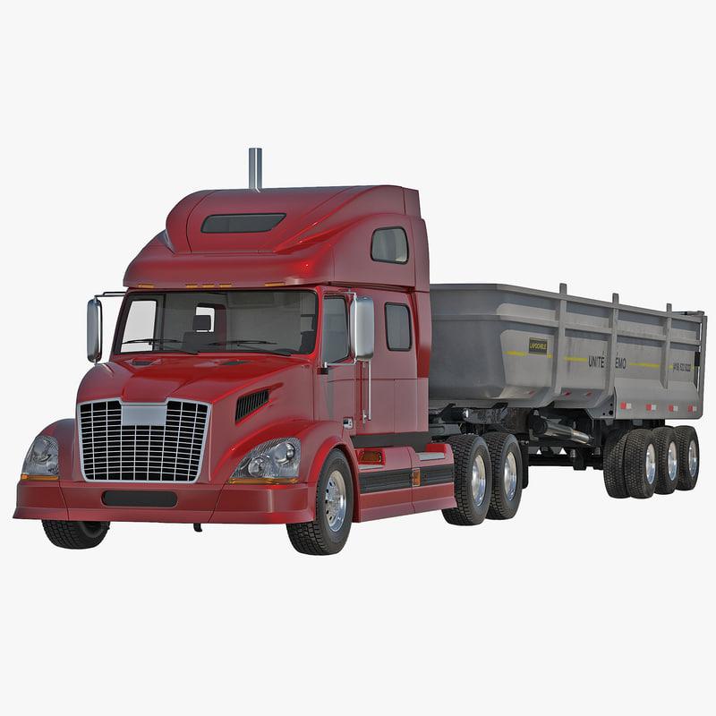 Semi Dump Trailer Truck 2