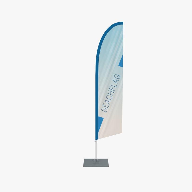 3d max beach flag