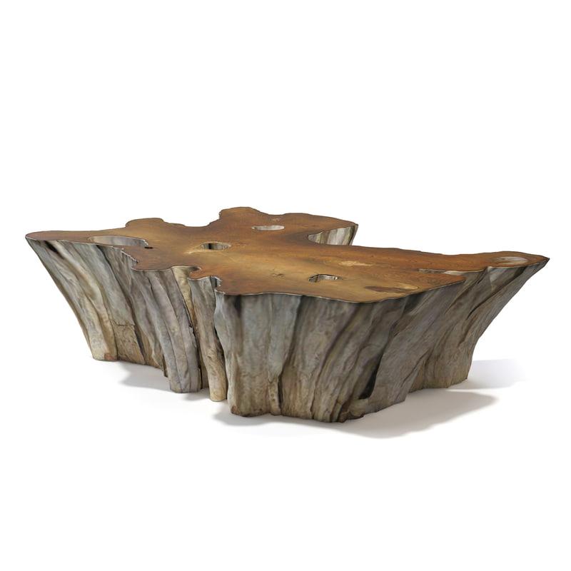 Teak Root Coffee Tables: 3d Teak Root Coffee Table