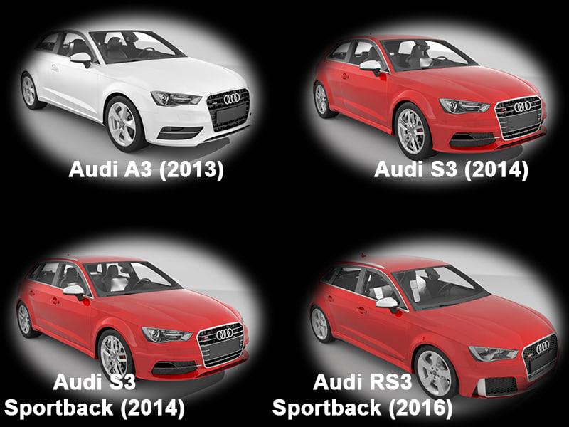 Collection of Audi A3 cars