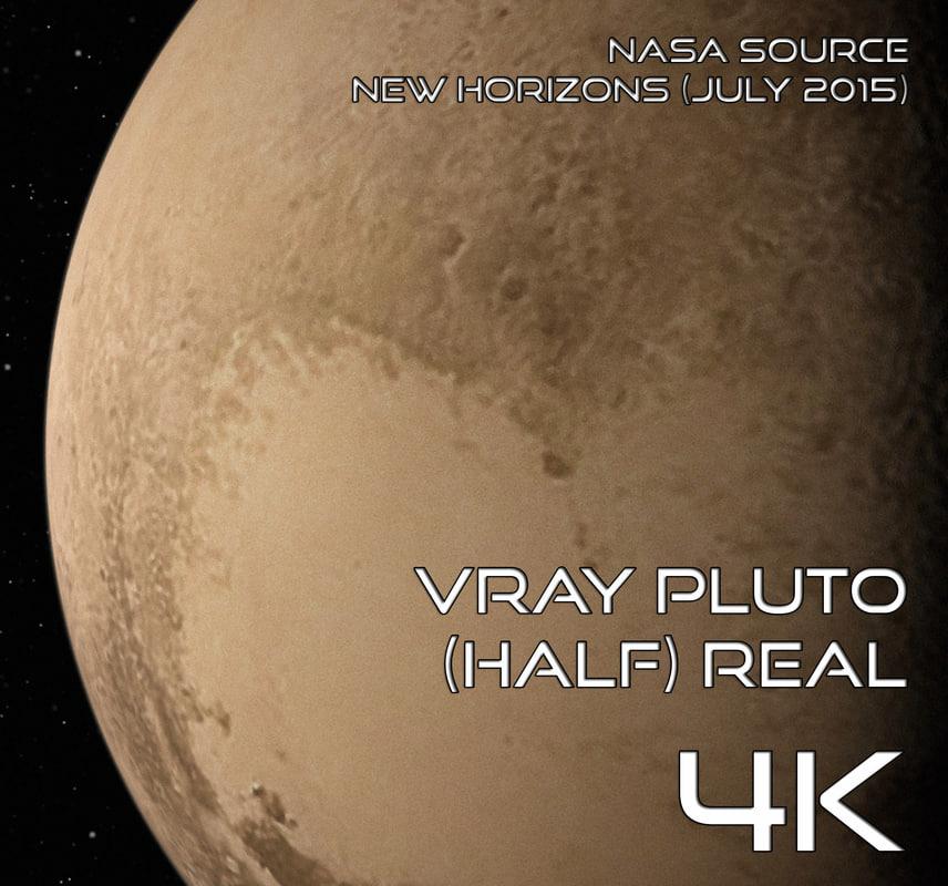 Pluto (Half) Real 4K