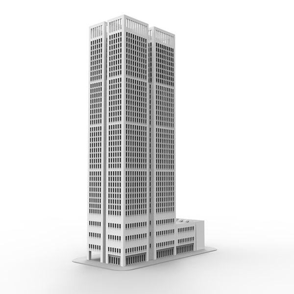 3d Model Skyscrapers 3d Skyscraper Model