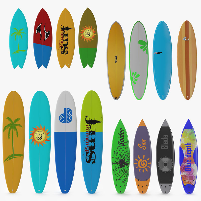 3d models of Surfboards Collection 00.jpg