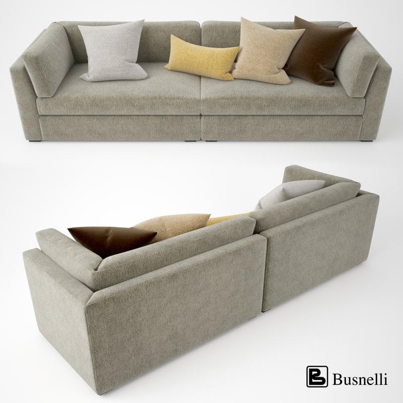 3d busnelli oh mar sofa model