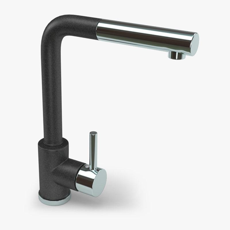 kitchen sink faucet 3d model