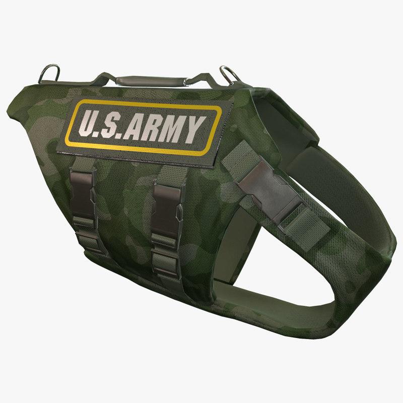 3d army dog armor animation
