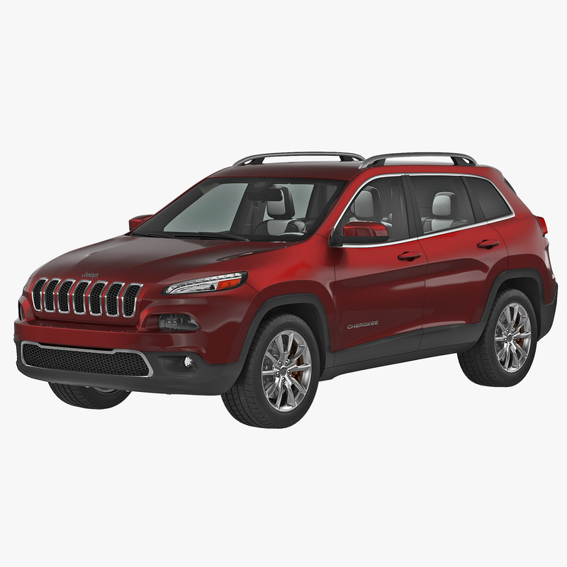 3d model jeep cherokee 2015. Black Bedroom Furniture Sets. Home Design Ideas