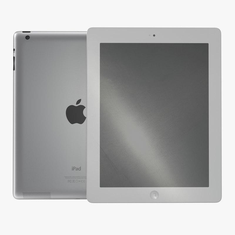 iPad Retina White 3d model 00.jpg