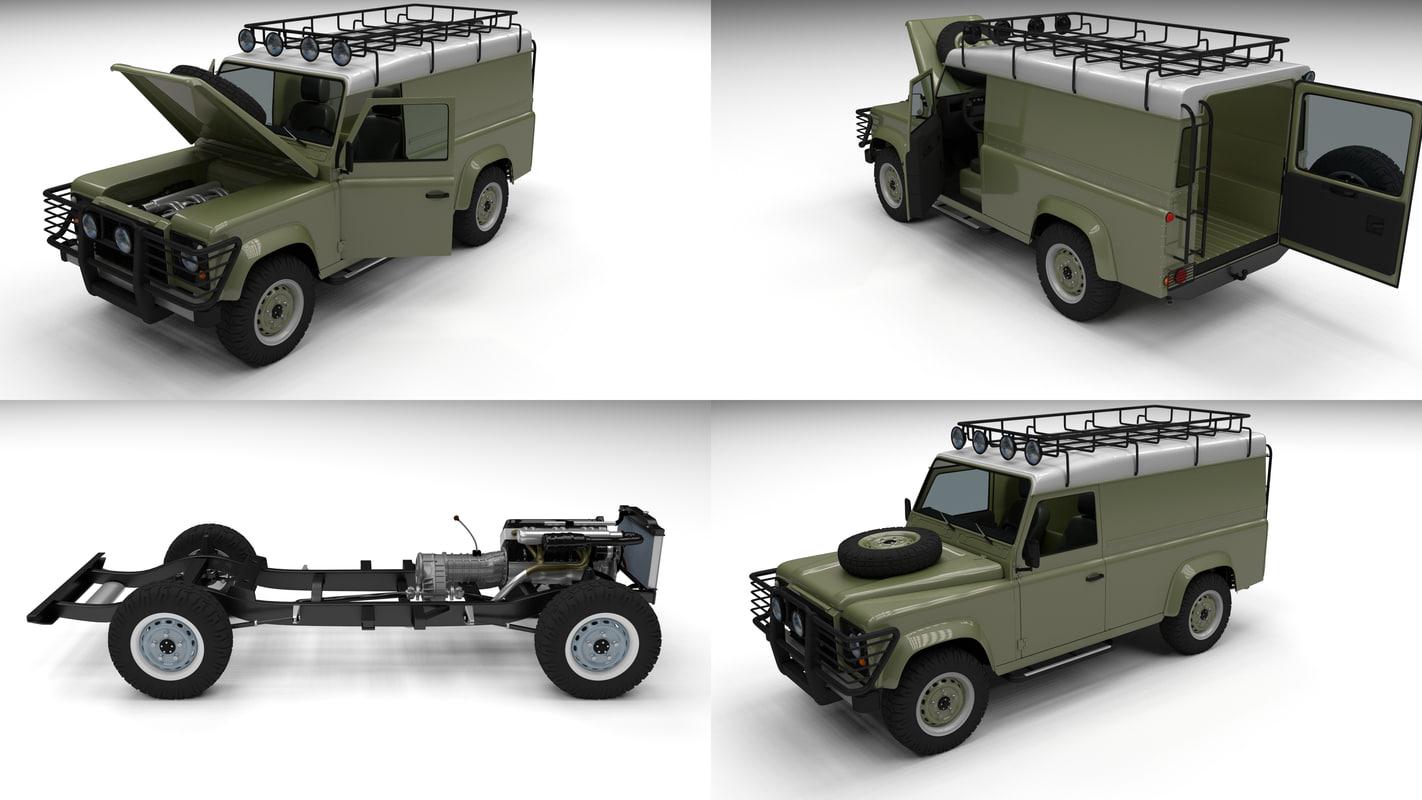 3d land rover defender 110 model. Black Bedroom Furniture Sets. Home Design Ideas