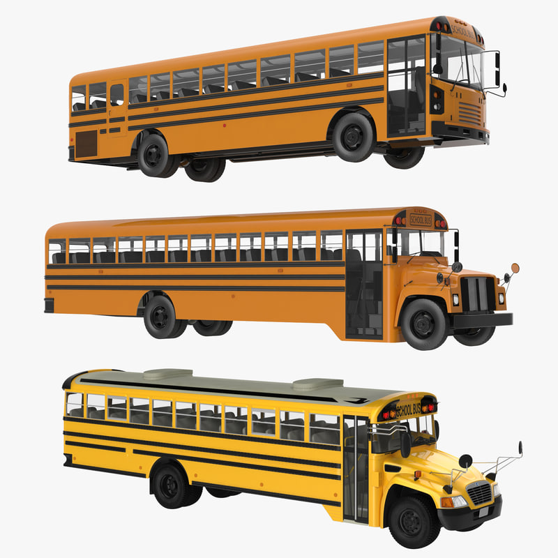 School Buses Collection 3d models 000.jpg