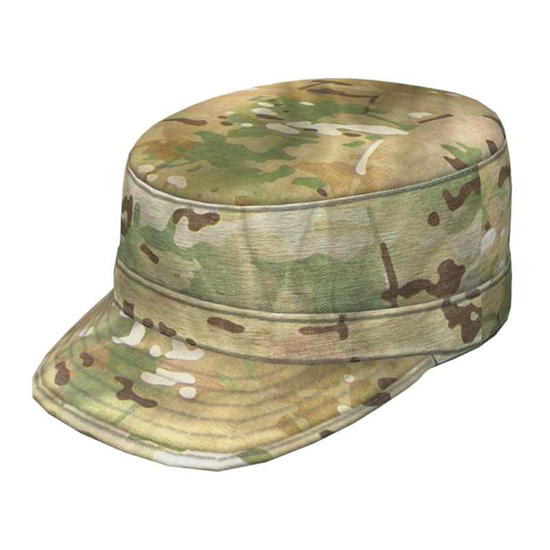 army patrol cap multicam 3d model