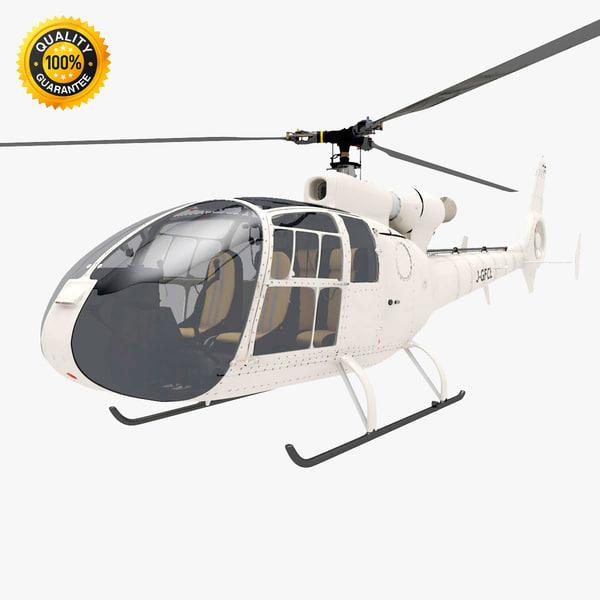 Aerospatiale SA Gazelle Helicopter 3D Models