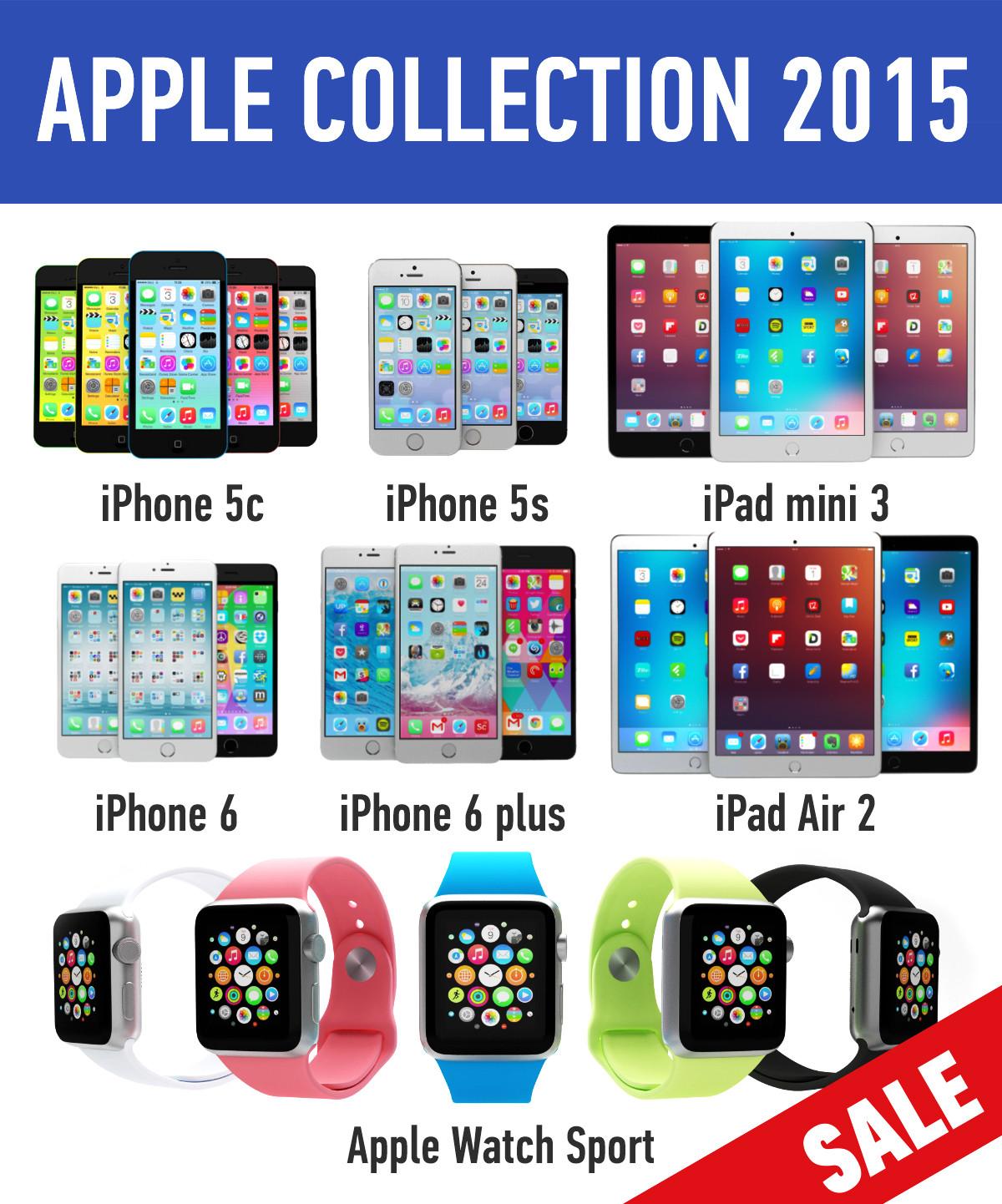 Apple electronics collection 2015