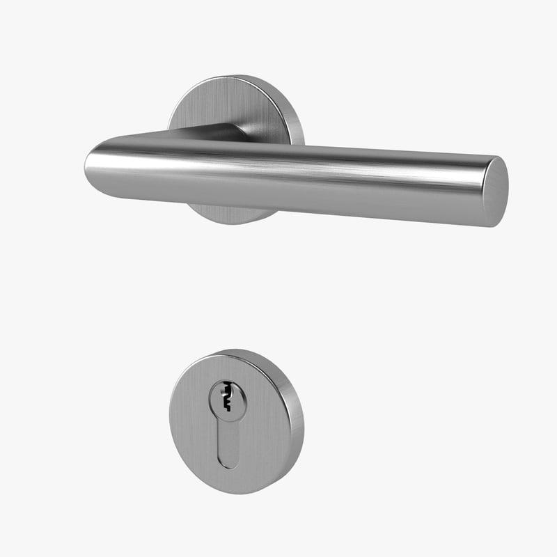 3d model door handle lock for Door 3d model