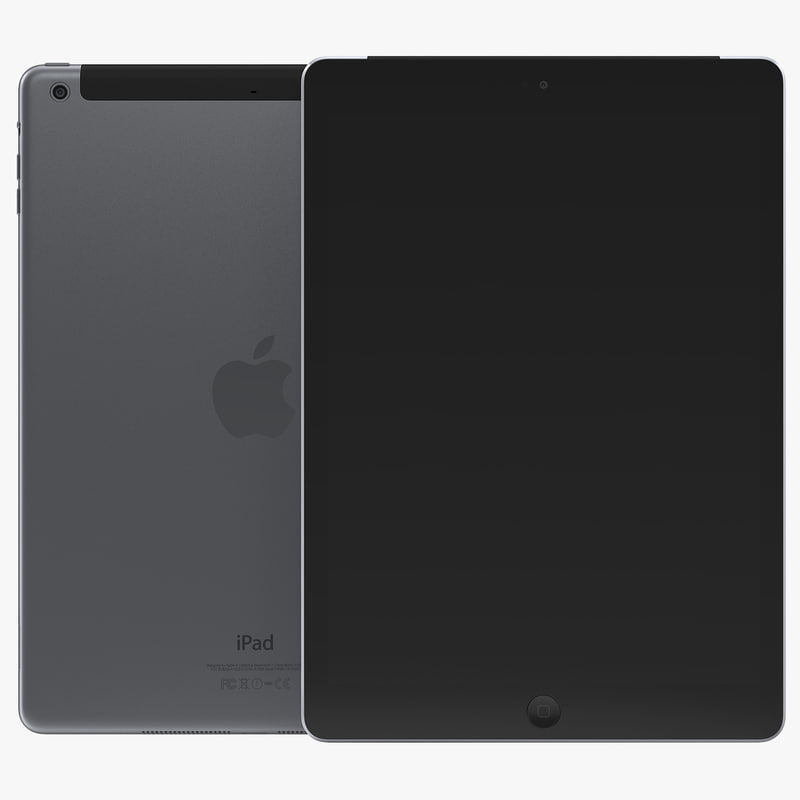 iPad Air Cellular Space Gray 3d model 00.jpg