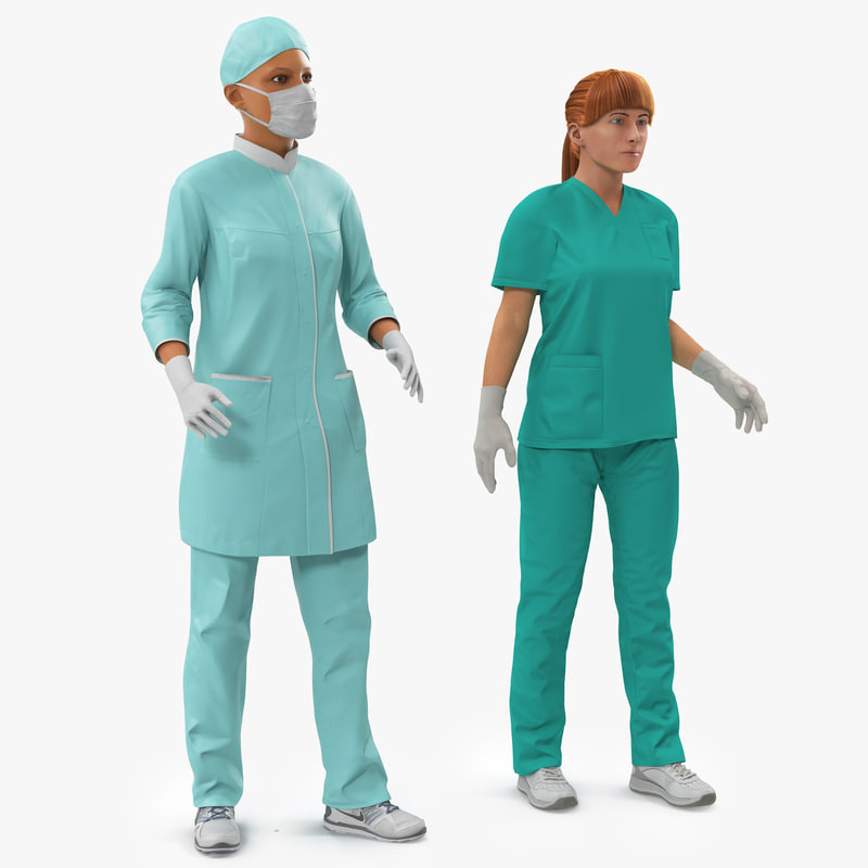 Female Rigged Doctors Collection 3d models 000.jpg
