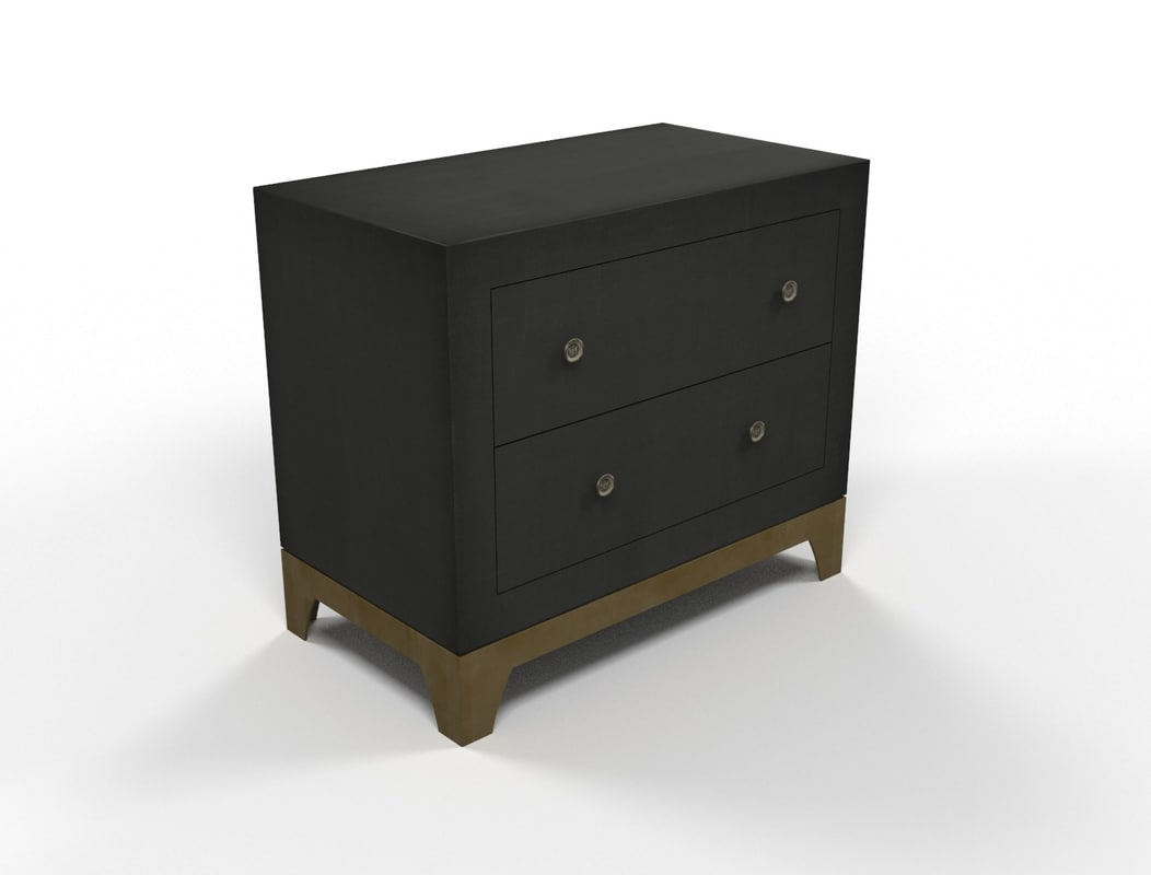 Ikea Folding Table With Drawers ~ bedside table 3d model