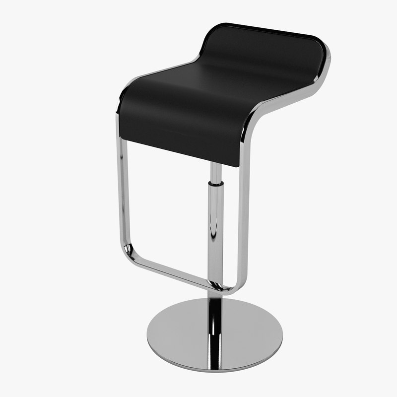 Lem piston bar stool max for Barhocker 3d model
