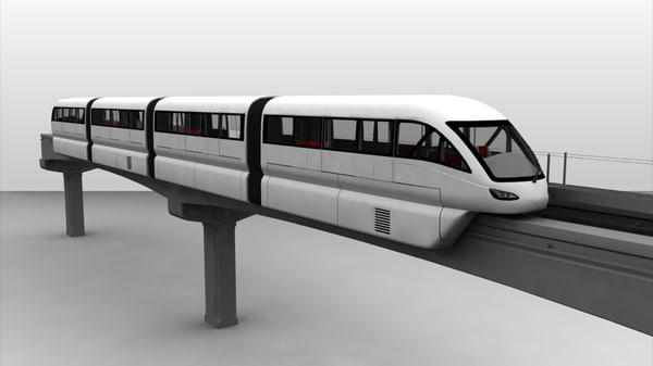 Scomi SUTRA Monorail 3D Models