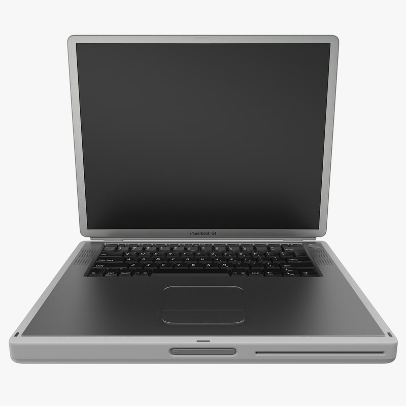 Apple PowerBook G4 3d model 00.jpg