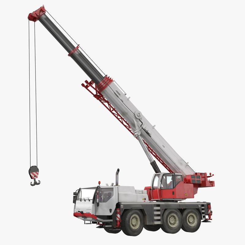 Compact Mobile Crane Rigged 3d model 00.jpg