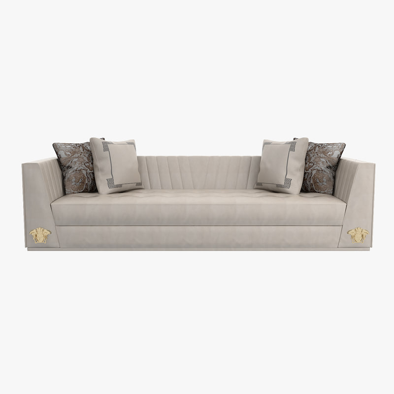 Obj versace gesu 3 seater Versace sofa