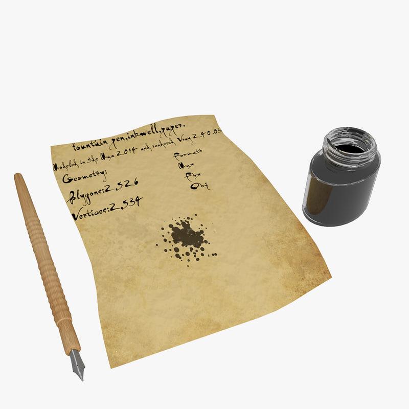 Fountain Pen And InkwellFountain Pen And Inkwell