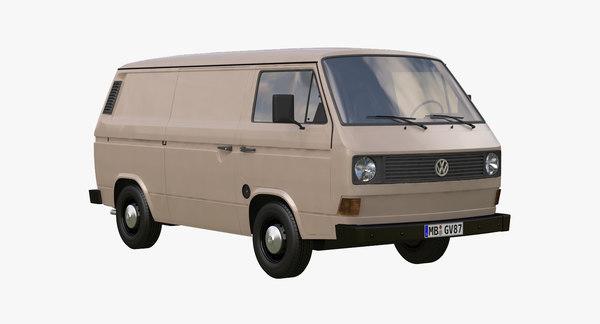 VW Transporter T3 3D Models