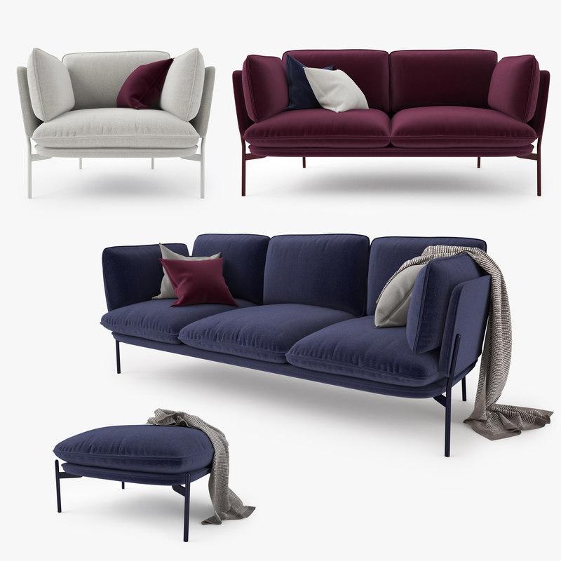 3d Tradition Cloud Sofa Model