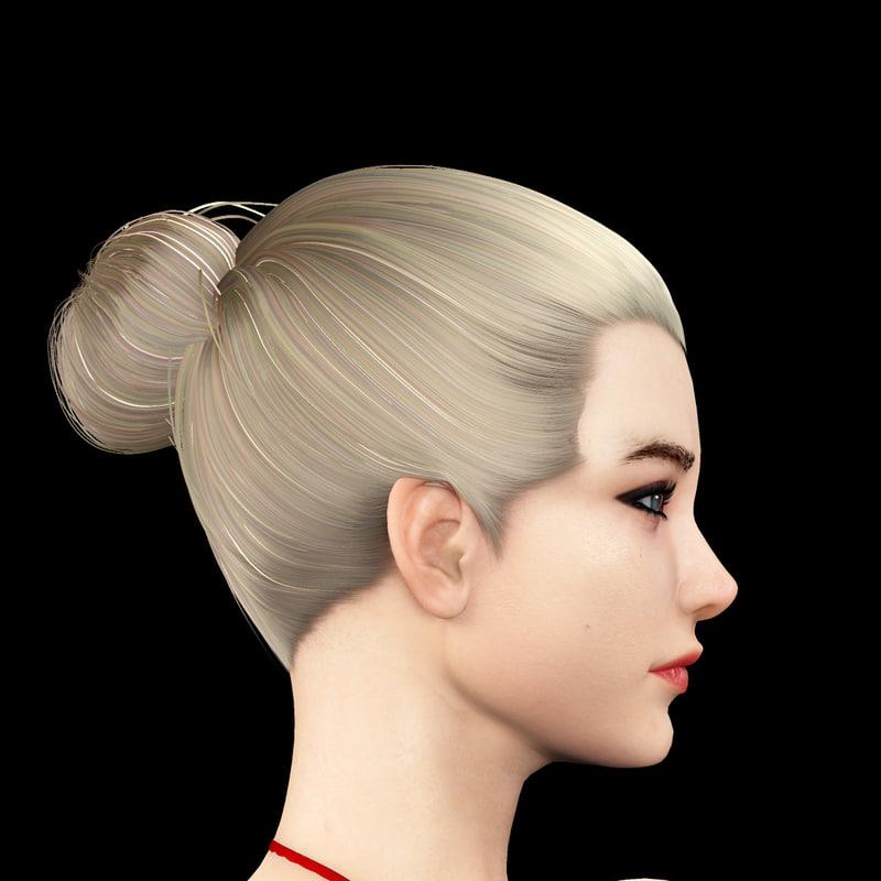 3d model realistic female girl body