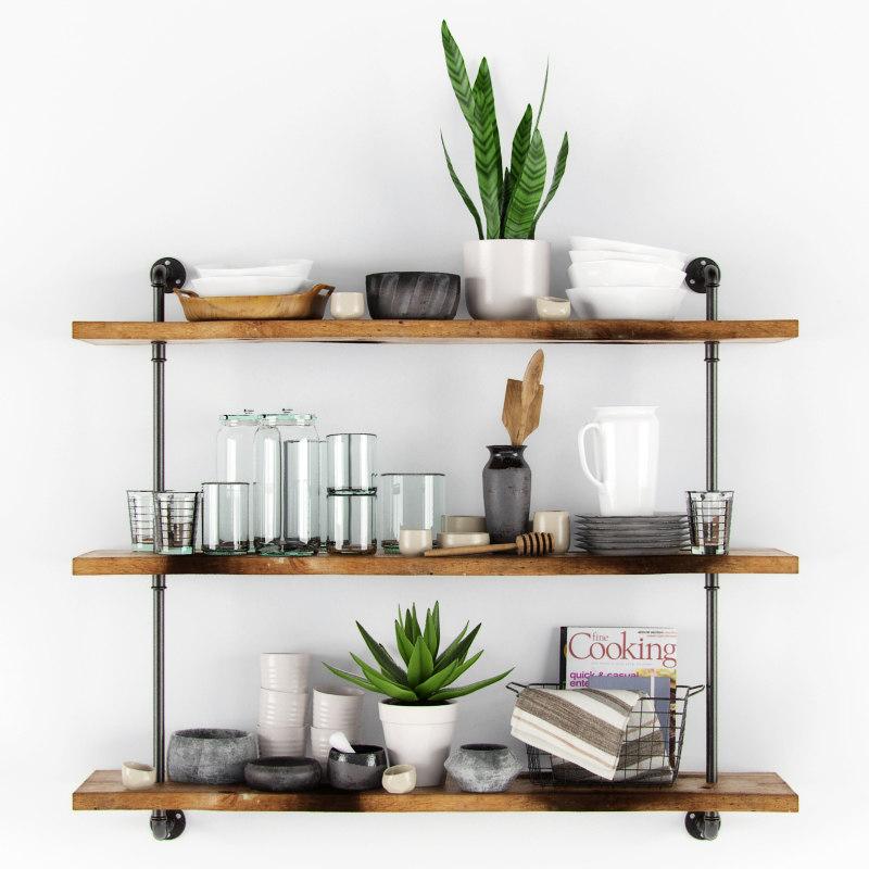 3ds Decorative Kitchen Set Shelves