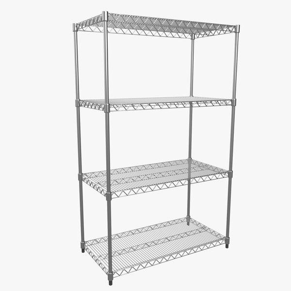 Metall Shelf 3D Models