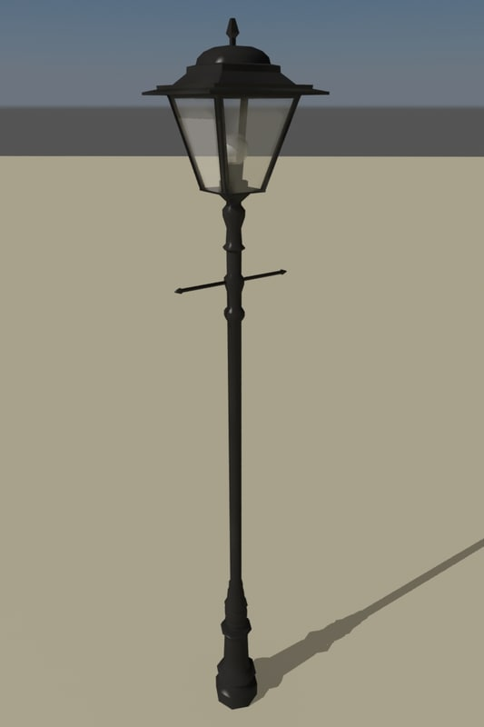 antique street lamp 3ds