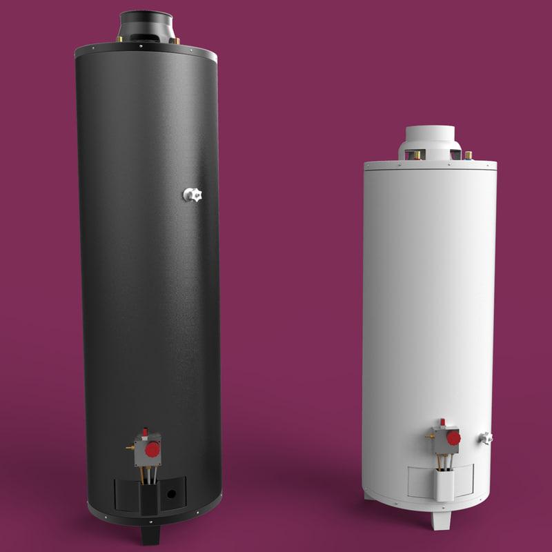 Water Boiler Model ~ Hot water heater d model