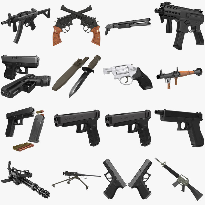 Weapons Big Collection 3d models 000.jpg