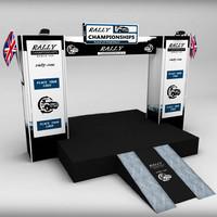sports podium 3D models