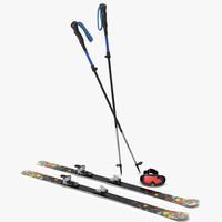 snow ski 3d models
