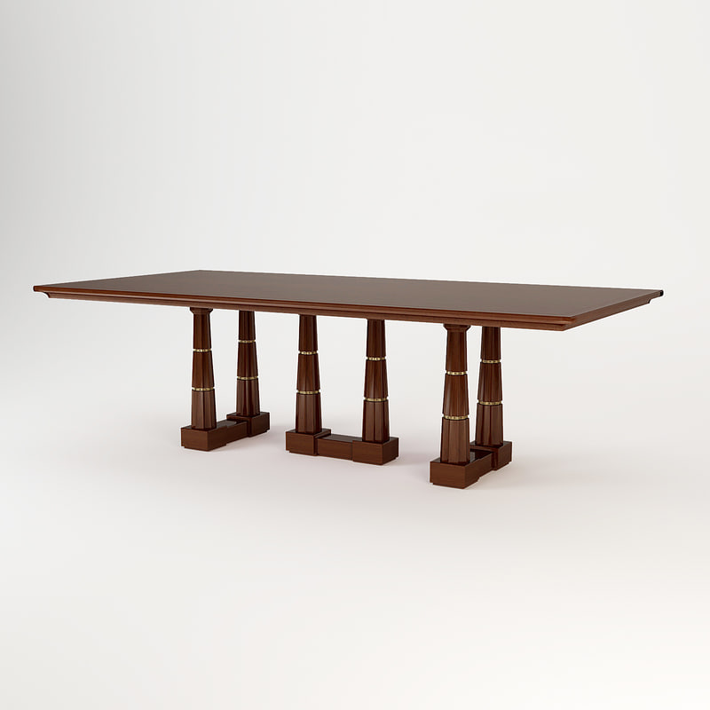 3d baker column dining table
