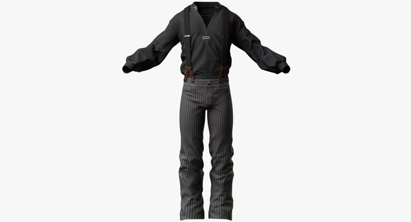 Mens Western Clothes 1 3D Models