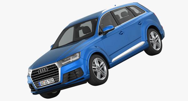 Audi Q7 S-Line 2016 3D Models