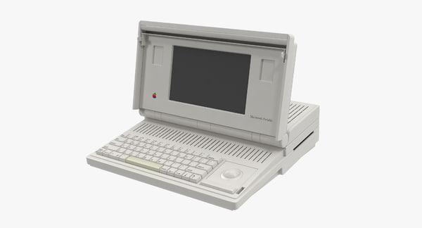 Apple Macintosh Portable 3D Models