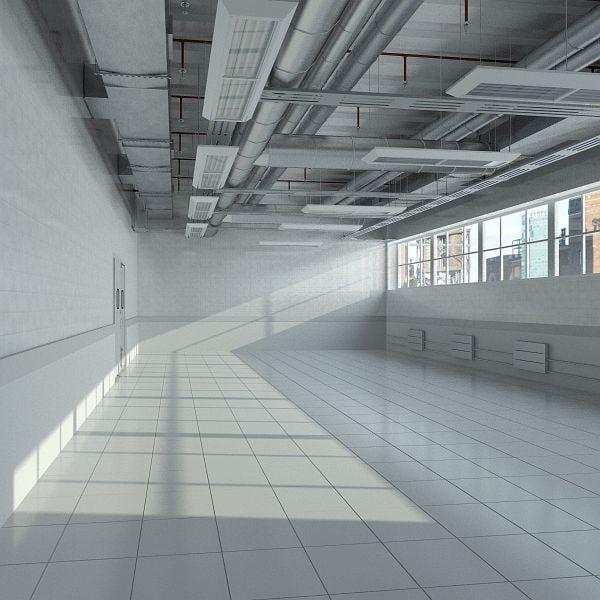 Industrial Ceiling Light 3ds Max: Max Industrial Interior Scene