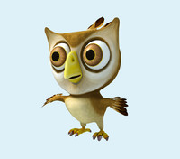 cartoon owl 3D models