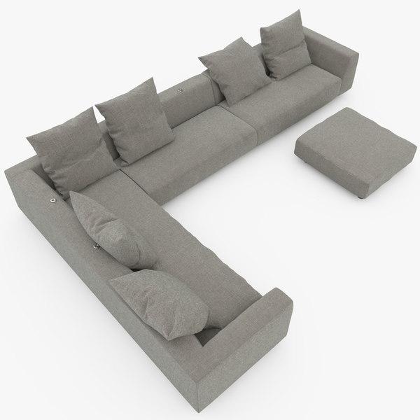 Edra Absolu Sofa 3D Models