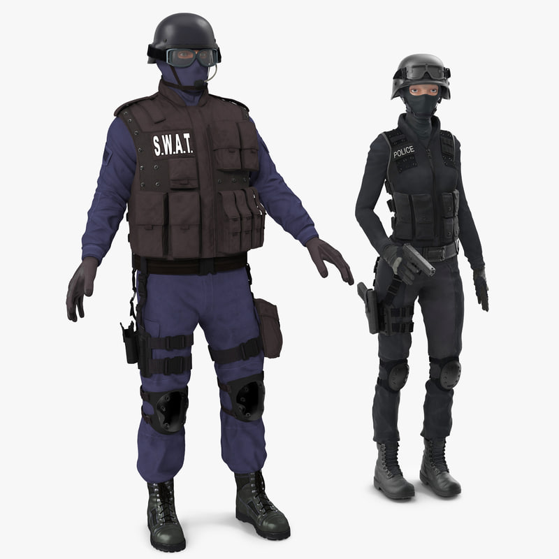 SWAT Rigged Policemans Collection 3d models 00.jpg
