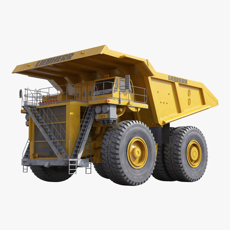 Heavy Duty Dump Truck Liebherr Yellow 3d model 00.jpg