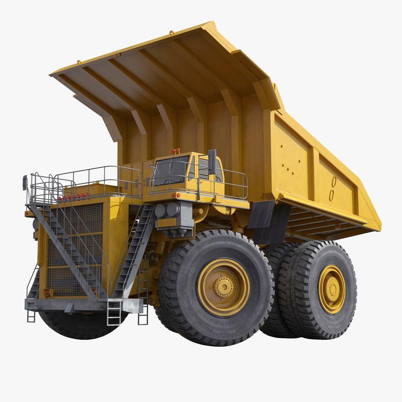 Heavy Duty Dump Truck Generic Yellow Rigged 3d model 00.jpg